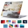 Impresión colorida cubierta del estuche rígido para Apple MacBook Pro Retina 13 15 personalizada cáscara dura para Mac book Air 11 12 13.3 pulgadas