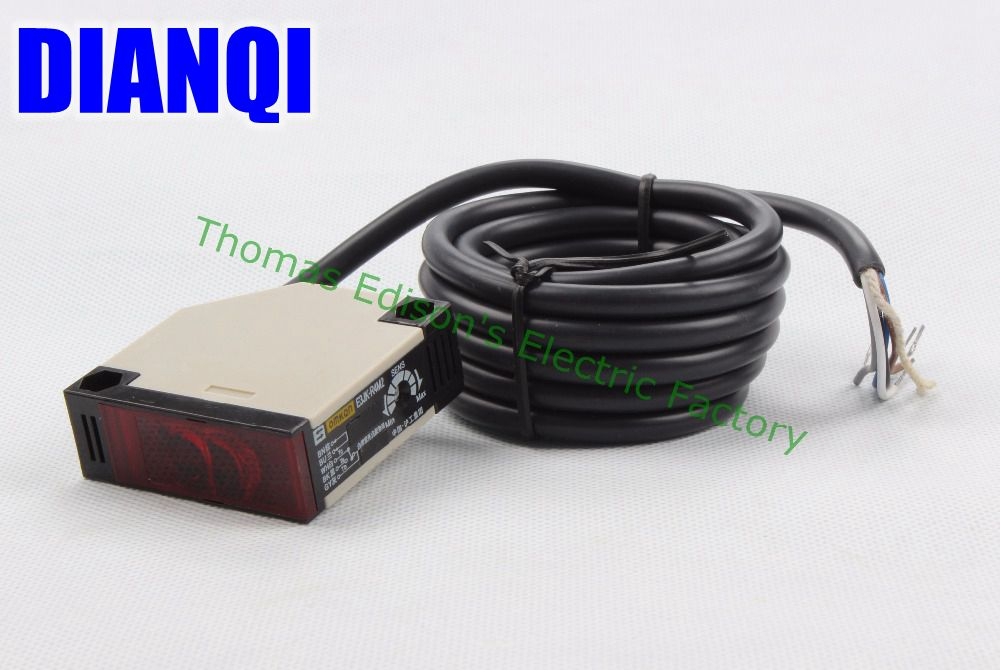 Photoelectric switch E3JK-R4M2 12V DC infrared sensor switch transducer feedback reflection e3jk 5dm1 e3jk 5l dc12 24v ac90 250v photoelectric sensor switch infrared photocell switch detective distance 5m
