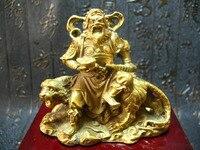 China's Tibet old copper Wealth Evil spirits Uranus Tiger Statue 245g