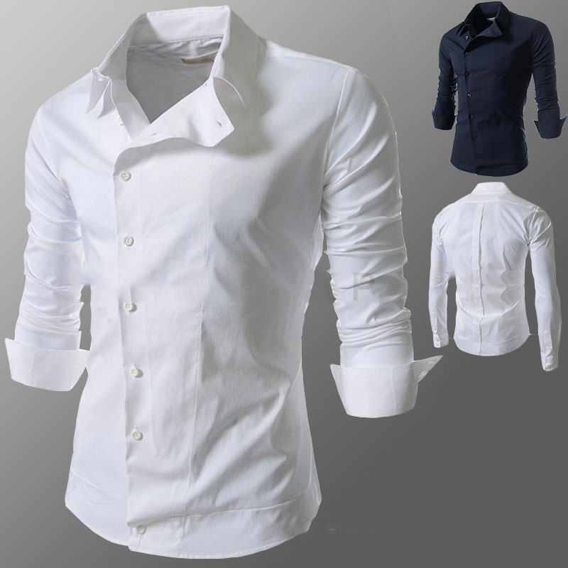Popular Button up Collar Shirts Male-Buy Cheap Button up Collar ...