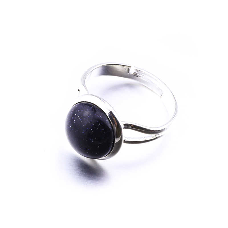 หินธรรมชาติ 10 มิลลิเมตร 12 มิลลิเมตรรอบโอปอลสีชมพูคริสตัลแหวนเครื่องประดับ