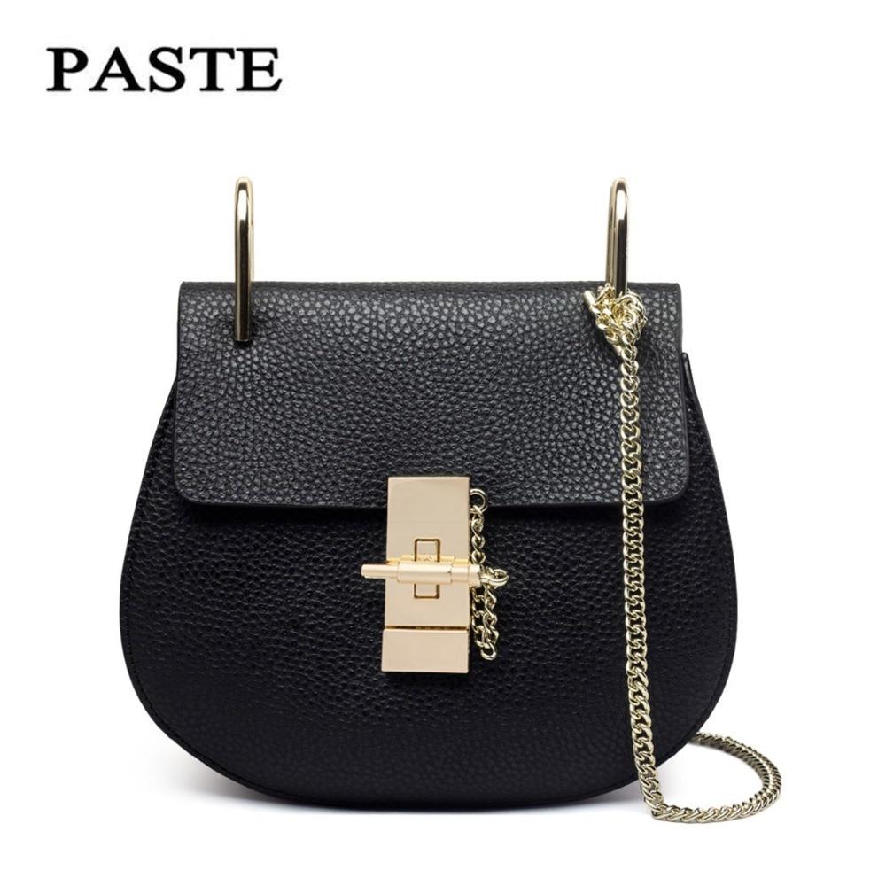 PASTE Brand Women Cow Split Leather Handbags Messenger Bags Fashion Shell Small Flap Shoulder Bag Ladies Mini Bags Female Clutch