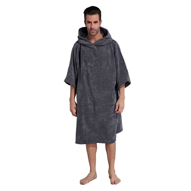 Changing Robe Bath Towel For Adult Hooded Beach Towels Poncho Bathrobe Suitable For Women Man Terry Vs Big Body Shower