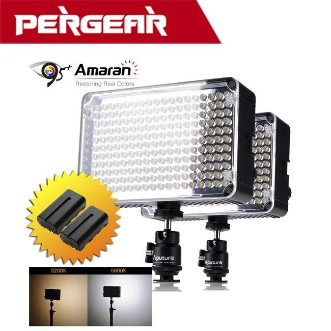Aputure Amaran AL-H198C высокий CRI 95 + светодио дный видео фото свет + 2 шт. Перезаряжаемые NP-F550 Аккумуляторы для Canon Nikon sony камеры