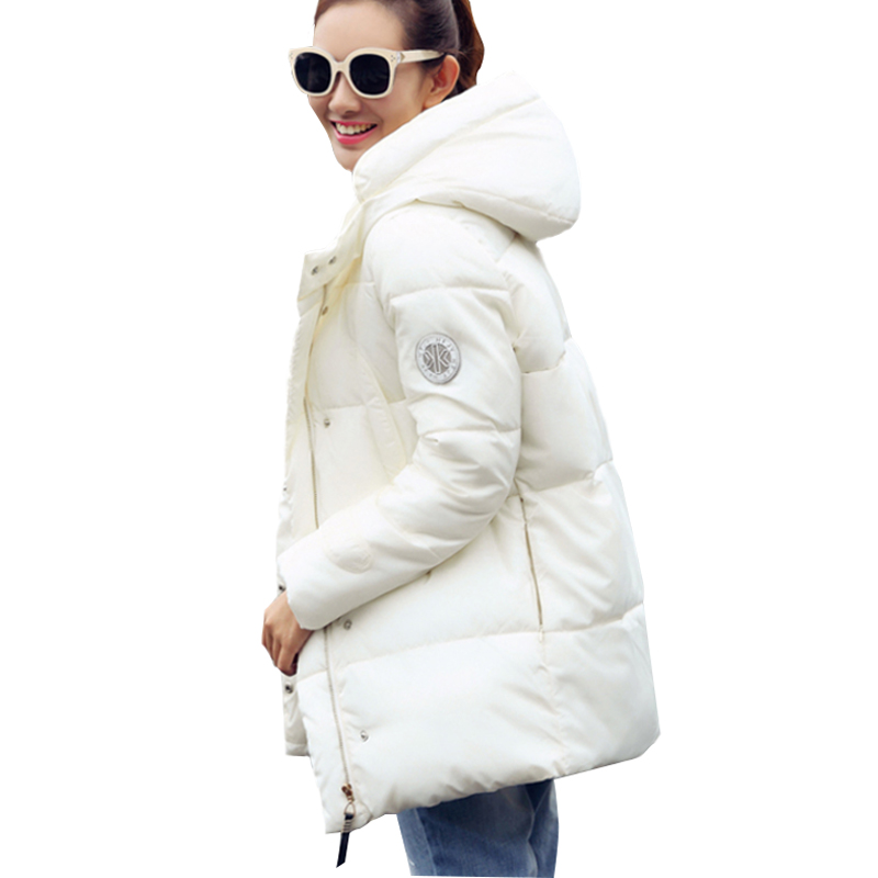 2018 Fashion Winter Jacket Women Down Jackets and Coats Female Hooded Thicken Coat Warm Down Parka Women Long Wadded Parka 50 hooded parka women 2017 new winter coats jackets parkas long slim thickening warm coat jacket female outerwear black pw1034