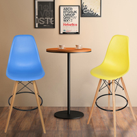 Bar Stool Breakfast Kitchen Bistro Cafe Vintage Wood Dining Chairs Modern Bar Chair HOT SALE