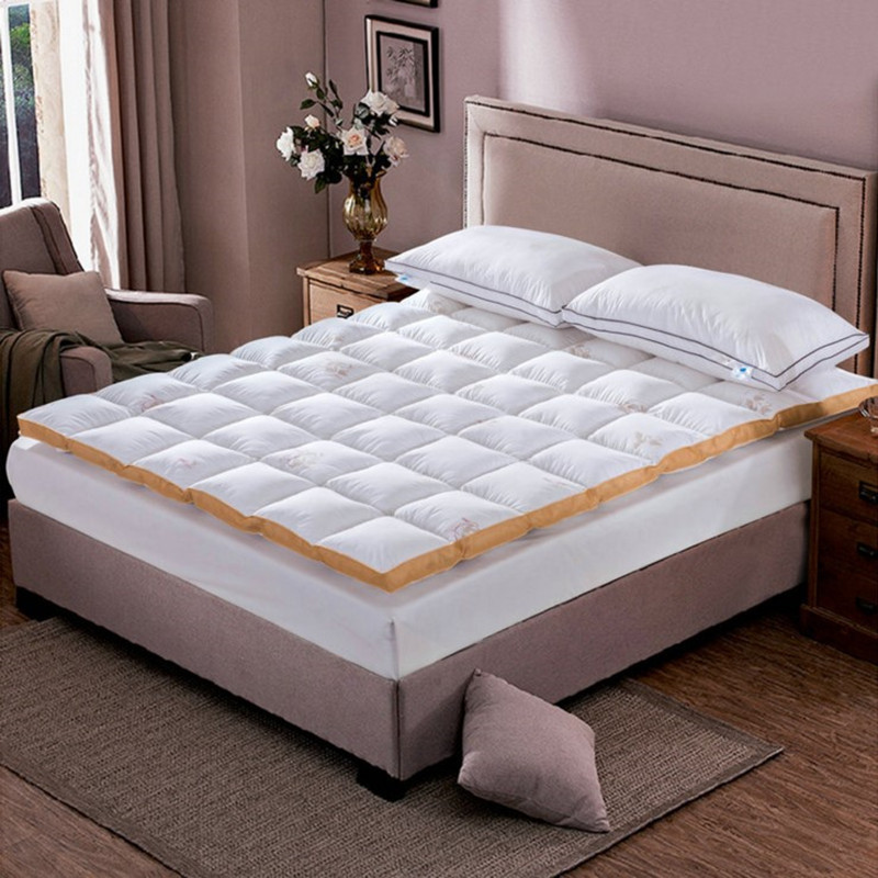 HOT SALE Foldable Down Feather Mattress Hotel White Cotton Home King Size hot sale sleep well pocket spring latex memory mattress king queen twin best price mattress for sweet home quality product q05