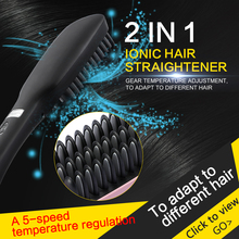 100-240V Straight iron/Anion hair comb 5 gears 30W/50-60HZ Negative ion concentration More than six million/PCS/CM3 Black