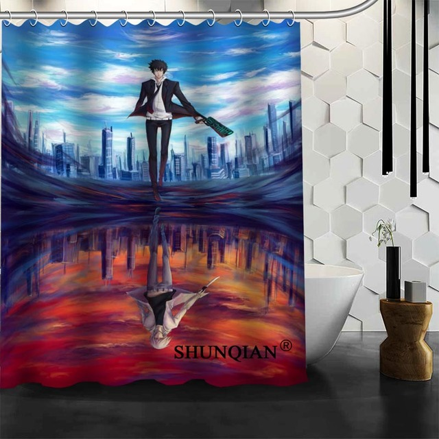 Psycho Pass Shower Curtain High Quality Bath Screens Modern Polyester Fabric Customized