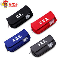 Canvas multilayer High capacity Creative simple pencil bag free shipping