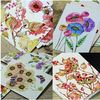 22pcs/lot Cute Hand Painting Birds and Flowers Fresh Watercolor postcards Wedding Invited Cards Celebrating Congratulation card