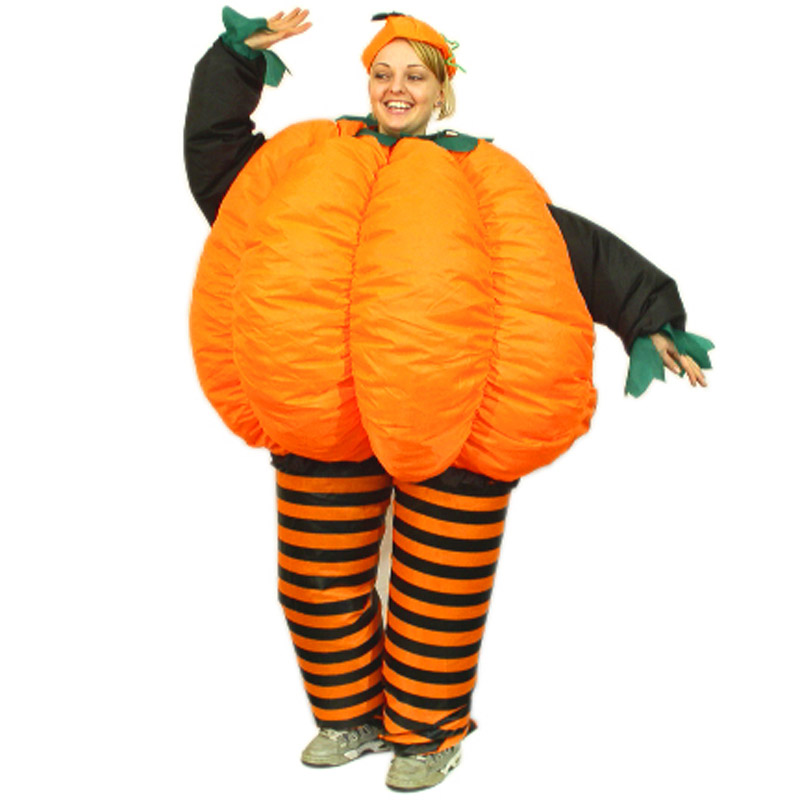 New Inflatable Pumpkin Costumes Halloween Carnival Party Suits Inflatable Costume Adult Fancy Dress Suit For Man and Women