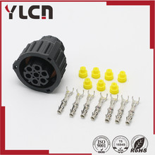 Free Shipping Tyco/Amp 7 pin 1.5MM BU-STE KPL CIRCULAR DIN HOUSINGS female connector 967650-1 965570-1 968421-1(China)