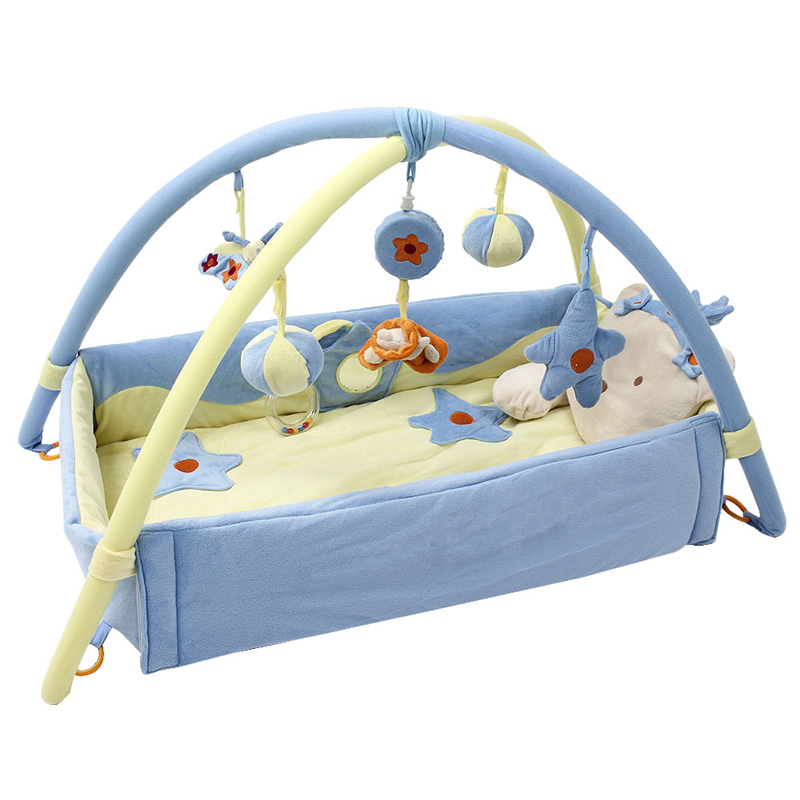 Baby Play Game Mat Creepy Carriage Stand Frame Toys Cartoon Model Appease Small Toys Baby Boy Girl Comfortable Cushion