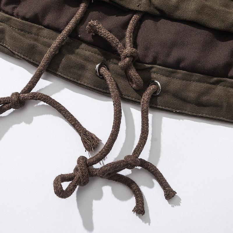 breasted Manteau Chaud Long Single Brun Outillage Brown Japonais Coton Ak186 OP80knwXZN