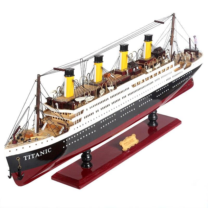 Maquettes de navires en bois Titanic en bois Kits de maquettes de navires en bois à del 55cm maquettes de bateaux à l'échelle Voyager modèles d'outils de modélisation jouet de bricolage passe temps - 5