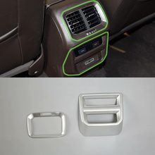 Car Accessories ABS InteriorRear Air Vent Outlet Cover Trim For Volkswagen Tiguan L 2016 Car Styling