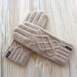 Fashion Brand Women Gloves Double Thick Warm Wool Knitted Gloves Female Outdoor Autumn Warm Mittens Driving Gloves Free Shipping