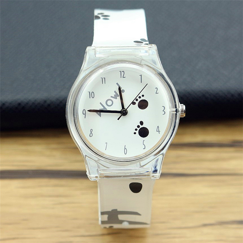 New Arrived Women Fashion Little Feet Dial Casual Silicone Watch Kids Cute Cartoon And High Quality Waterproof Watch
