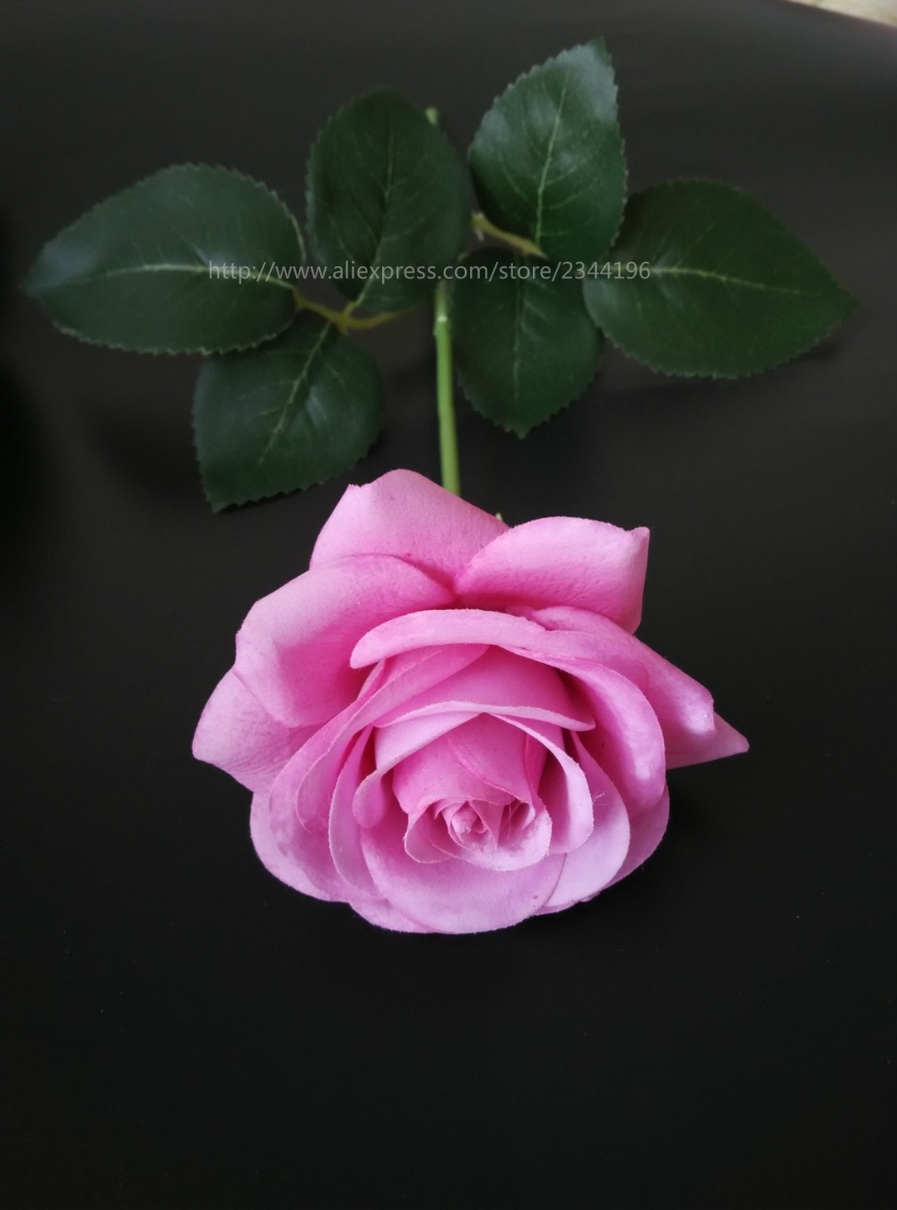Single Pink Artificial Roses Wedding Decoration Flower For Baby