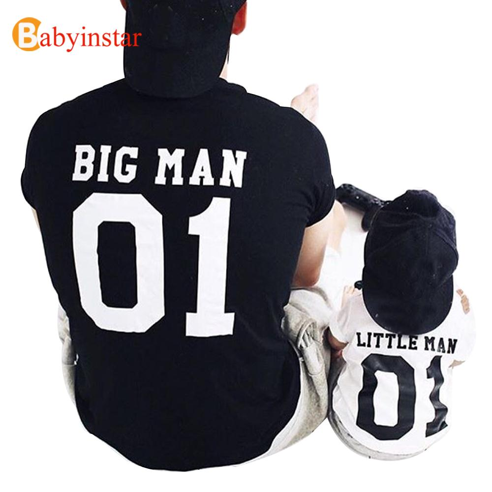(Big Man & Little Man) Vater Sohn passende Tops Tees Familie passende Outfits Familie Look Kreative T-Shirt-Sets
