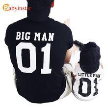 (Hombre grande y hombre pequeño) Padre hijo juego Tops camisetas familia juego trajes familia Look creativo camiseta conjuntos nueva familia ajustada