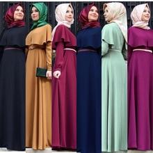 2019 Muslim Abaya Dress Women Fashion Islamic Arabic Long Hijab Black Simple Clothing Traditional 7 Colors
