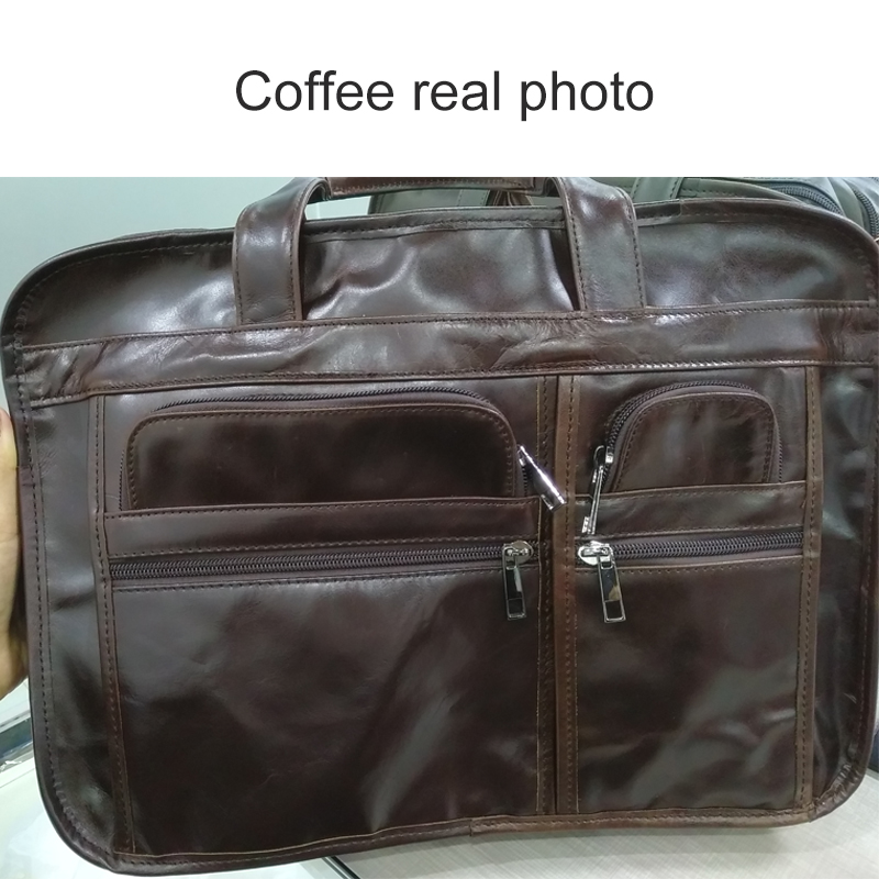 WESTAL men's genuine leather bag for men's briefcase office bags for men leather laptop bag document business briefcase handbag