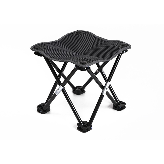 Mini Portable Folding Stool Outdoor Foldable Chair Quick Fold For Camping Fishing Travel Hiking Garden Beach