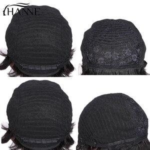 Image 5 - Hanne 毛 100% 人毛ウィッグわずかな波状かつらショート黒黒人女性グルーレスの remy 毛かつら