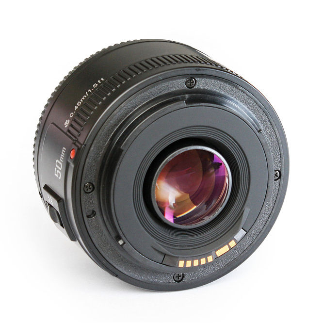 Objectif YONGNUO YN EF 50mm f/1.8 AF à ouverture automatique objectif YN50mm f1.8 pour appareils photo reflex numériques Canon EOS - 6