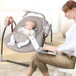 طفل الكهربائية كرسي متأرجح مهد الطفل الراحة كرسي كرسي متأرجح لوازم الطفل السرير روسيا شحن مجاني