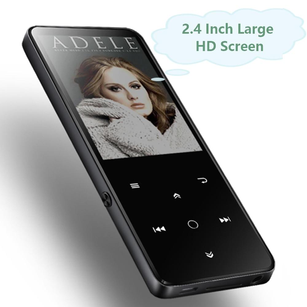 MP4 Lettore Bluetooth 16 gb Built-In Speaker Key Touch con 2.4 pollici Grande Schermo HD Radio FM, registratore Suppoers SD Card Fino a 64 gb