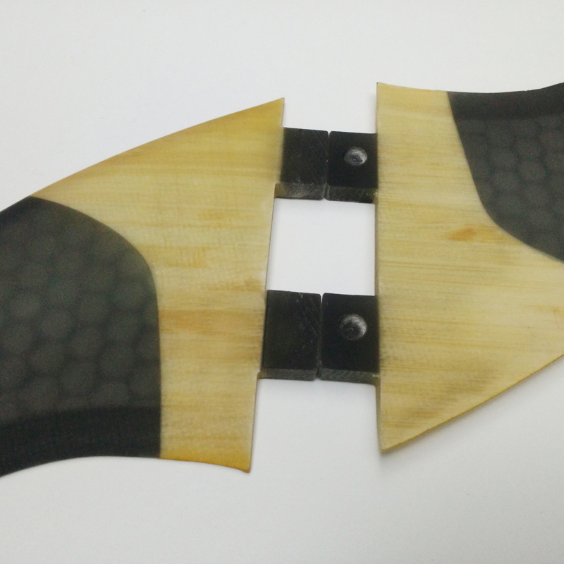 SUP Surfboard FCS-Quad-Fins G5 + GX Quilhas Honeycomb + Bamboo Surf - Veesport - Foto 4