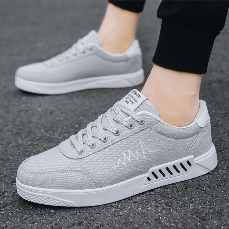 Classique Blanc Pour Des En La Toile Mode Hommes À Plein Casual Plates Respirant De Noir Air 2018 Sneakers Chaussures rouge gris TIgqPzS