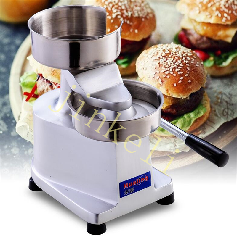 free air ship commercial 130mm Manual Hamburger Press Burger Forming Machine Round Meat Pie Shapping machine Hamburger maker 35l meat salting marinated machine chinese salter machine hamburger shop fast pickling machine with timer