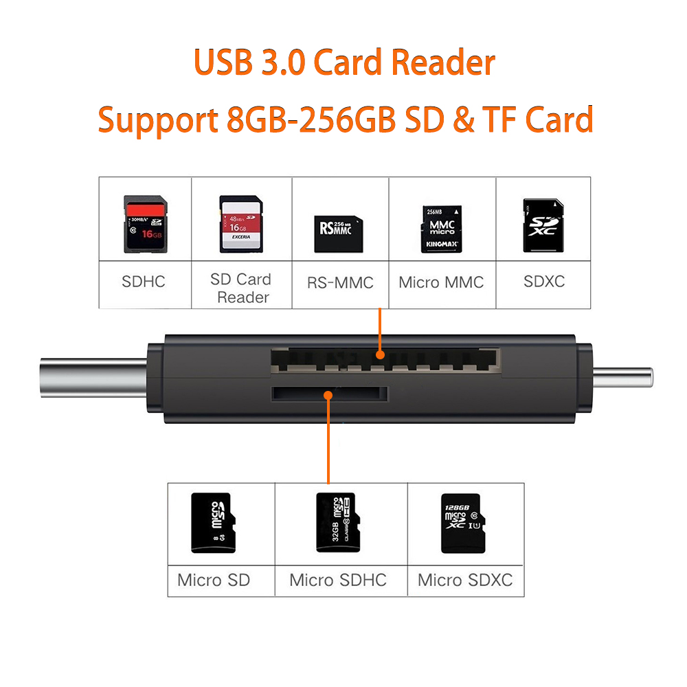 Image 3 - USB 3.0 Lightning Card Reader OTG Flash Drive microSD TF Card Memory Card Reader Adapter For iPhone 5 5s 6 7 8 X S6 S7 Edge-in Card Readers from Computer & Office