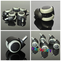 5pcs Dentist Chair Accessory Rubber Replacement For Swivel Wheel Office Chair Caster