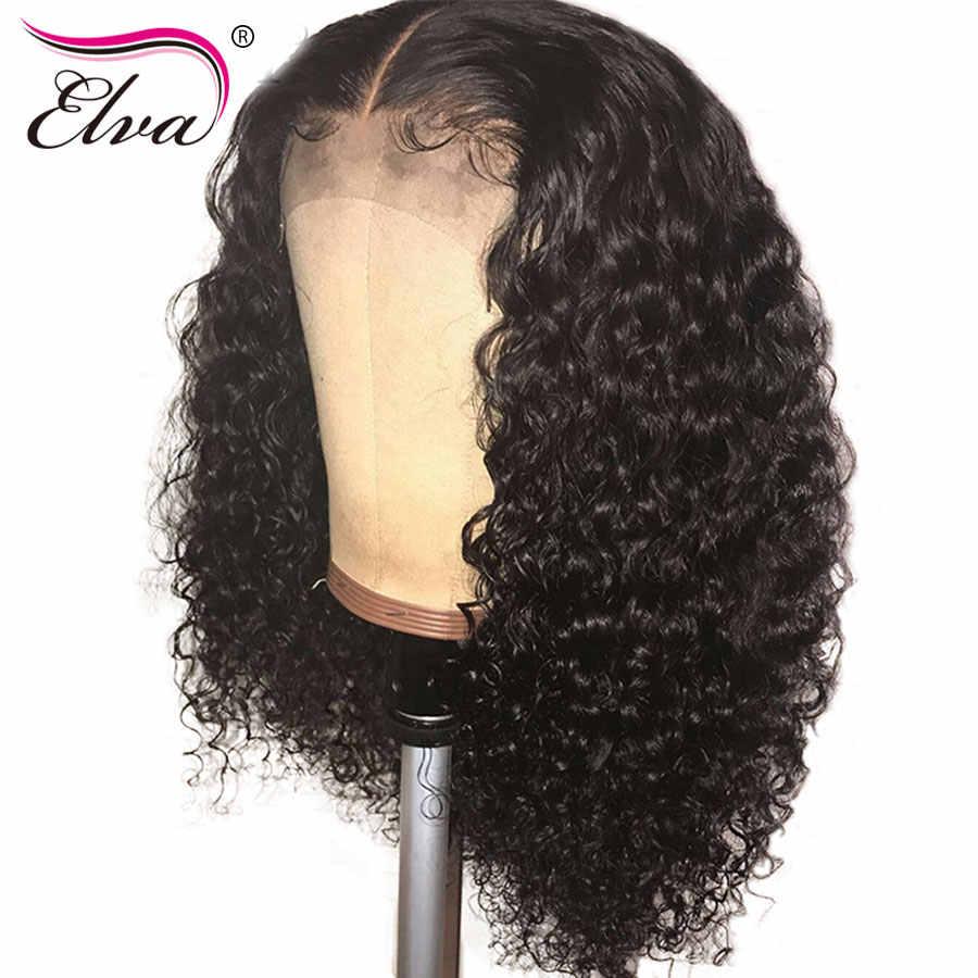 150% Плотность 13x6 Синтетические волосы на кружеве парики из натуральных волос кудрявый парик с детскими волосами Синтетические волосы на кружеве парик для Для женщин бразильский парик из натуральных волос волосы ELVA