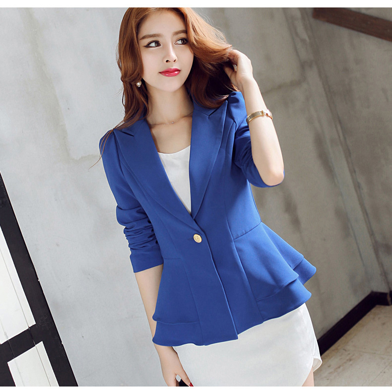 Mr.Nut 2019 Spring New Casual Suit Long-Sleeved Small Suit Female Jacket Korean Version Of The Self-Cultivation Small Suit