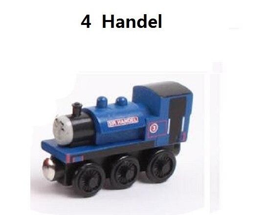 Деревянные магнитные паровозики, игрушки для железной дороги, деревянные паровозики для детей, подарок для детей, модель поезда - Цвет: Небесно-голубой
