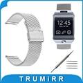 22mm milanese venda de reloj de pulsera correa de acero inoxidable de malla para samsung galaxy gear 2 r380 neo r381 live r382 moto 360 2 46mm