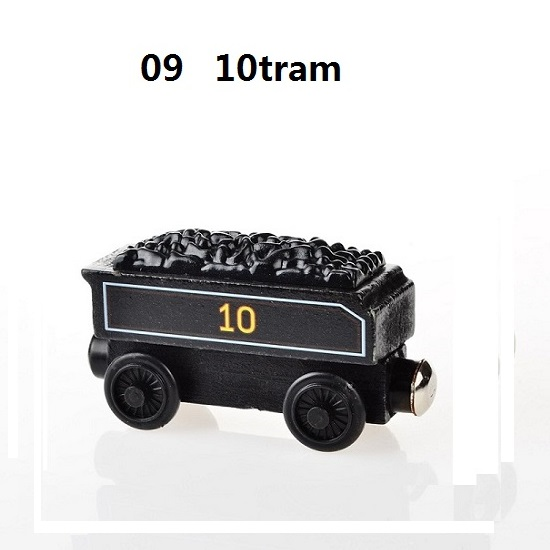 Деревянные магнитные паровозики, игрушки для железной дороги, деревянные паровозики для детей, подарок для детей, модель поезда - Цвет: Серый