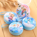 DUDINI Hot Sale Cartoon Coin Purse Elsa Anna Princess Girls Key Case Wallet Children Snow Queen Headset Bag Coin Bag