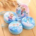 DUDINI Venda Quente Dos Desenhos Animados Coin Purse Crianças Snow Queen Elsa Anna Princesa Meninas Carteira Chave Do Caso Saco de Moedas Saco de fone de Ouvido