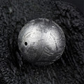 Bracelet Or Necklace Pendant Fashion Jewelry 7mm 1.5 Gram Women Mens DIY Silver Genuine Gibeon Iron Meteorite Loose Round Beads