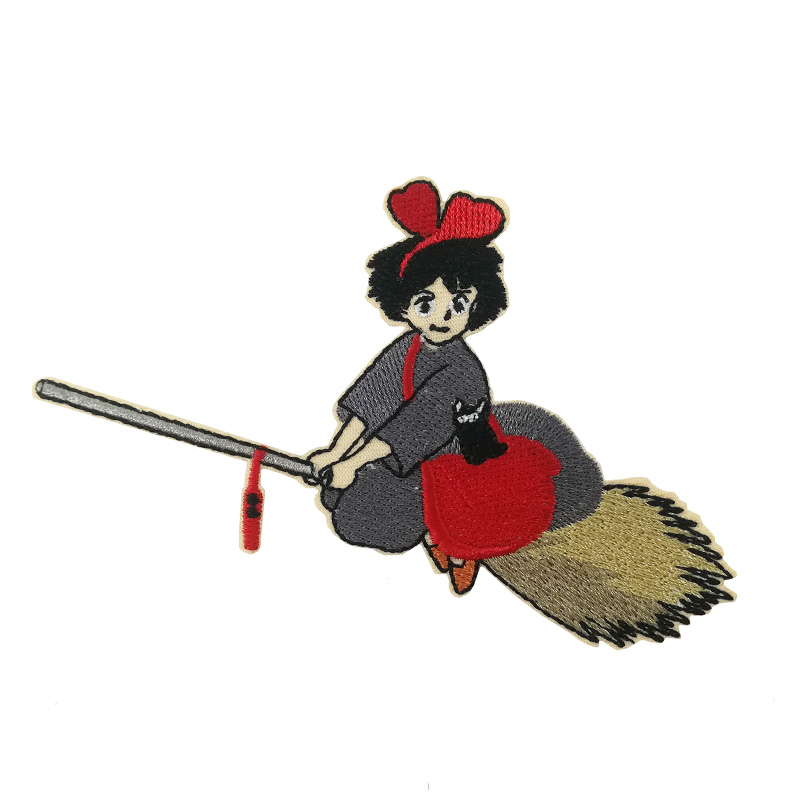 kiki s delivery service patch Japan anime retro TV MOVIE FILM Japan anime Cosplay Costume Embroidered