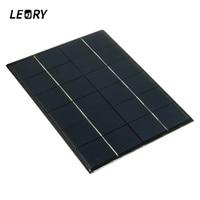 5 2W 6V Solar Panel Battery Charger Solar Modul Anschlussdose For Mobile Phones Tablet MP3 MP4