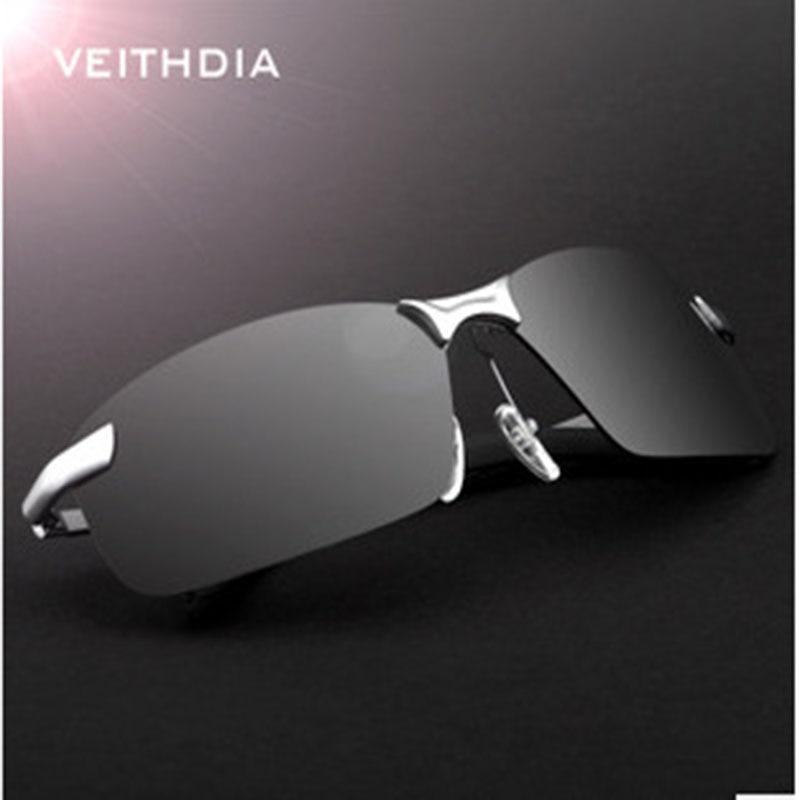 a0205f0ad2 VEITHDIA Rectangle Rimless Men Sun glasses Polarized UV400 Hot Fashion  Sunglasses Men Brand Designer Classic Male Eyewear Glass