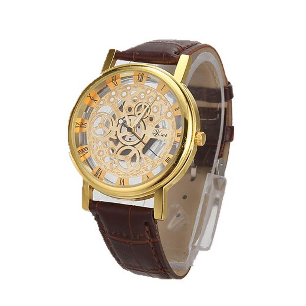 Hommes montres haut marque de luxe en acier inoxydable décontracté or Quartz analogique Date montre-bracelet de haute qualité pour livraison directe S7 14